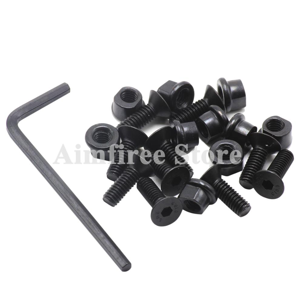 10PCS KeyMod Screws and Nuts Replacement for Keymod Rail Sections Accessories