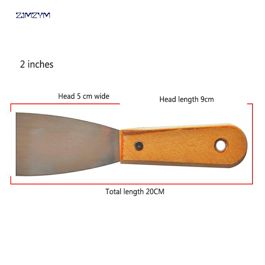 2 inches 20cm Multi-function Manganese steel Putty Knife Blade Antirust Batch Knife High-polished Wipe Scraper Tool