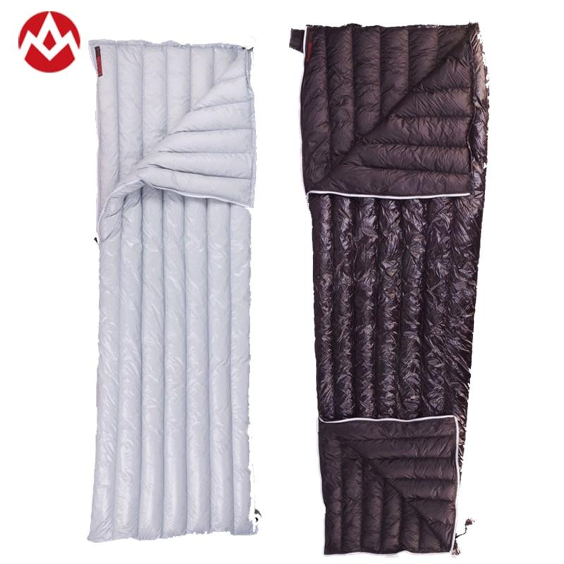 Aegismax 40 Graus 800FP Ganso UL Leve Sacos de Dormir Acampamento Ao Ar Livre Adulto Envelope Saco de Dormir Único
