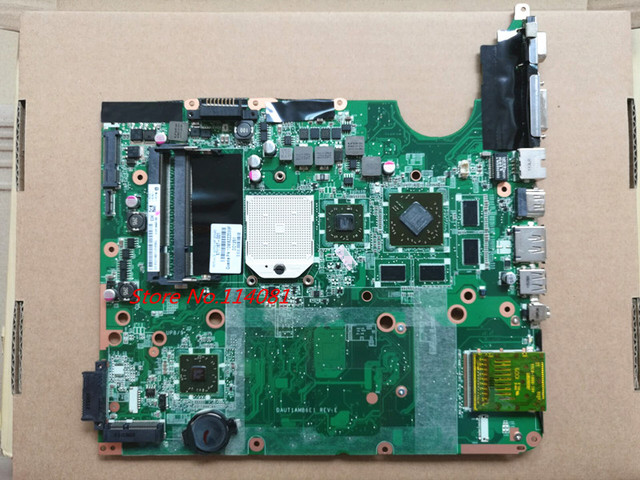 571187-001 для HP DV6 notebook материнская плата DAUT1AMB6E0/E1 Socket S1 DDR2 HD4530/1 Г, Хороший Пакет