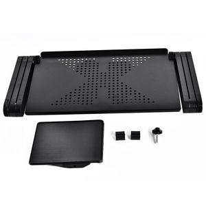 Image 2 - Ayarlanabilir dizüstü masası taşınabilir katlanabilir bilgisayar masası yatak masası ile bir büyük soğutma fanı