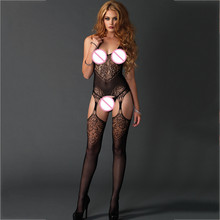 7c7427b5e 2019 Lingerie hollow-out exposed sexy open files even Socks Wrap Buttock  See Fishnet