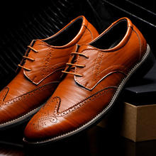 nluxury Men Casual Leather Pointed Toe Shoes Wedding Lace Up Dress Bullock Shoes Fashion Business Oxford Big Size Leather Shoes цена 2017