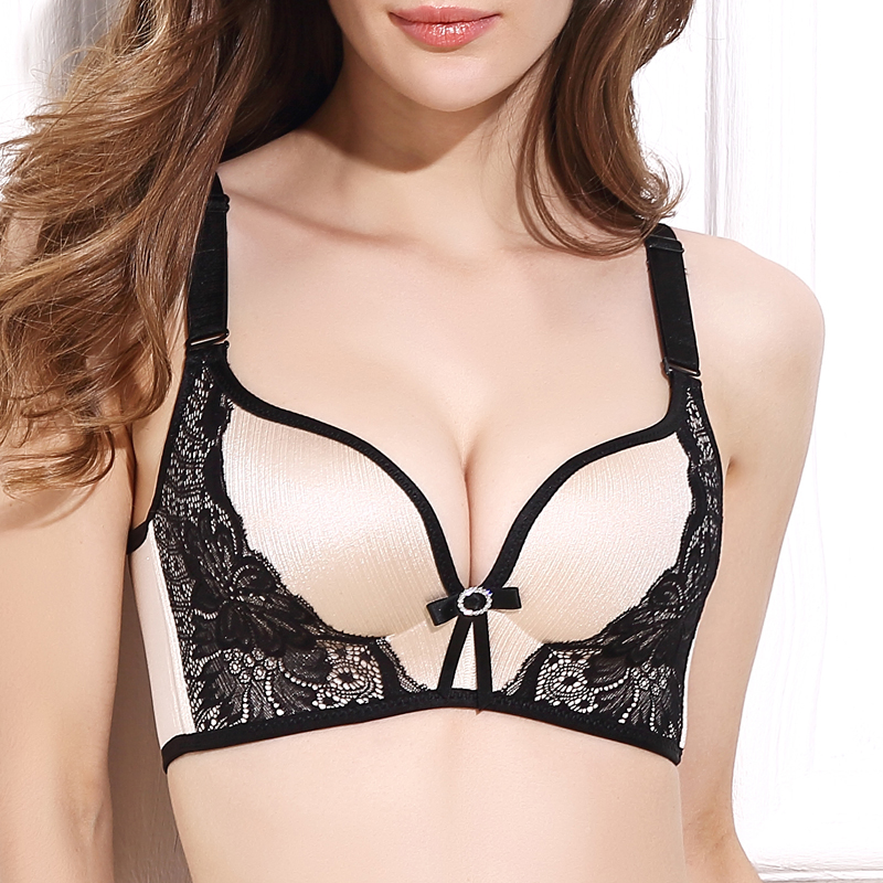 5641a1e2fc DeRuiLaDy Women Push Up Bra Lace Bralette Adjusted Comfortable Wireless Bra  Underwear Women Sexy Lingerie Plus Size C D Cup