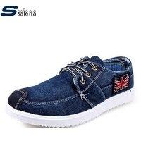 Denim Men Canvas Shoes Breathable Cushioning Male Casual Shoes Brand Men Vulcanize Shoes AA20403