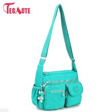 TEGAOTE Nylon Women Shoulder Bags Solid Zipper Bags Handbags Women Messenger Bag Summer Beach Crossbody Bags Female Sac A Main