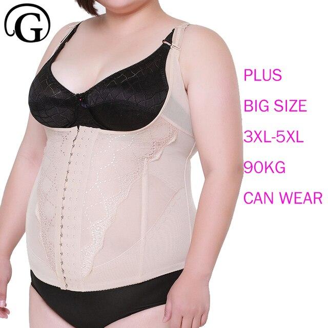 2a2cbe7845 Prayger plus size big women control waist corset slimming belly body shaper  push up bras tops