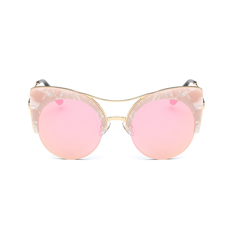 43e8041231 CandisGY Round Oversized Stylish Female Brand Designer Pink Mirror Cateye  Sunglasses Women Party Vintage Lady Sun Glasses-in Sunglasses from Apparel  ...