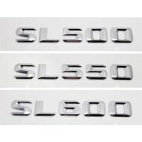 Para Mercedes Benz SL500 Sl550 SL600 R107 R129 R230 R231 emblema de la tapa trasera del maletero etiqueta de la letra del alfabeto estilo de coche
