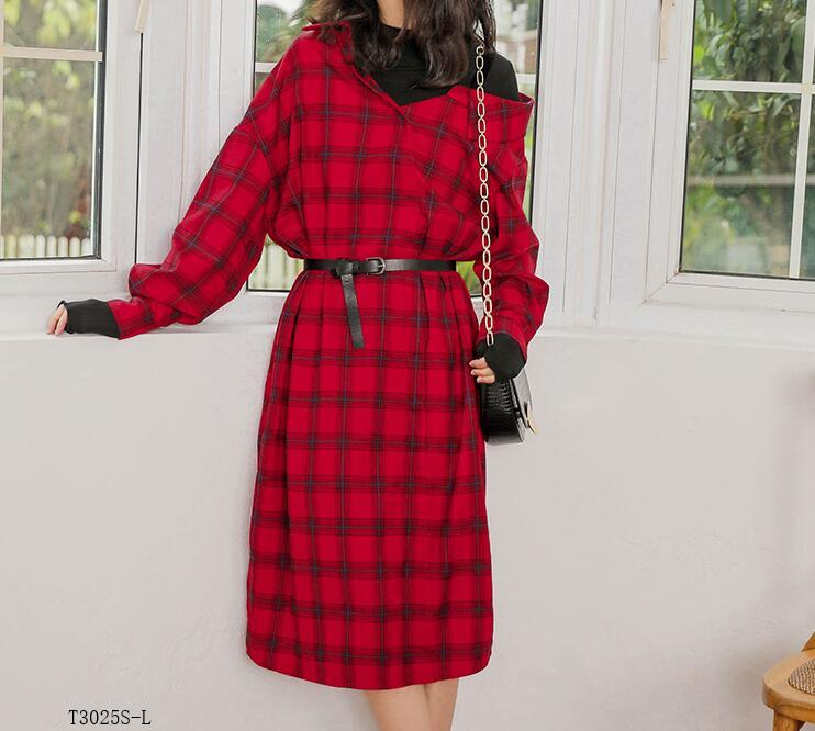 Casual Femmes Color Vêtements D'été T3025 Photo Mode Solide Printemps 2019 Couleur Européen Style Patchwork Nouveautés Costume Chemisier Robe T0YOnq