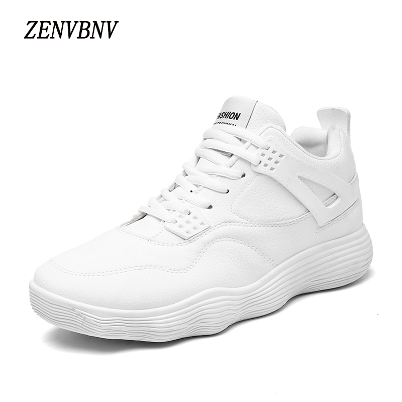 ZENVBNV 2017 Autumn High Top Men Flock Shoes Fashion Solid Men's Casual Shoes Comfortable Massage Man Lace up Brand Shoes new 2016 medium b m massage top fashion brand man footwear men s shoes for men daily casual spring man s free shipping