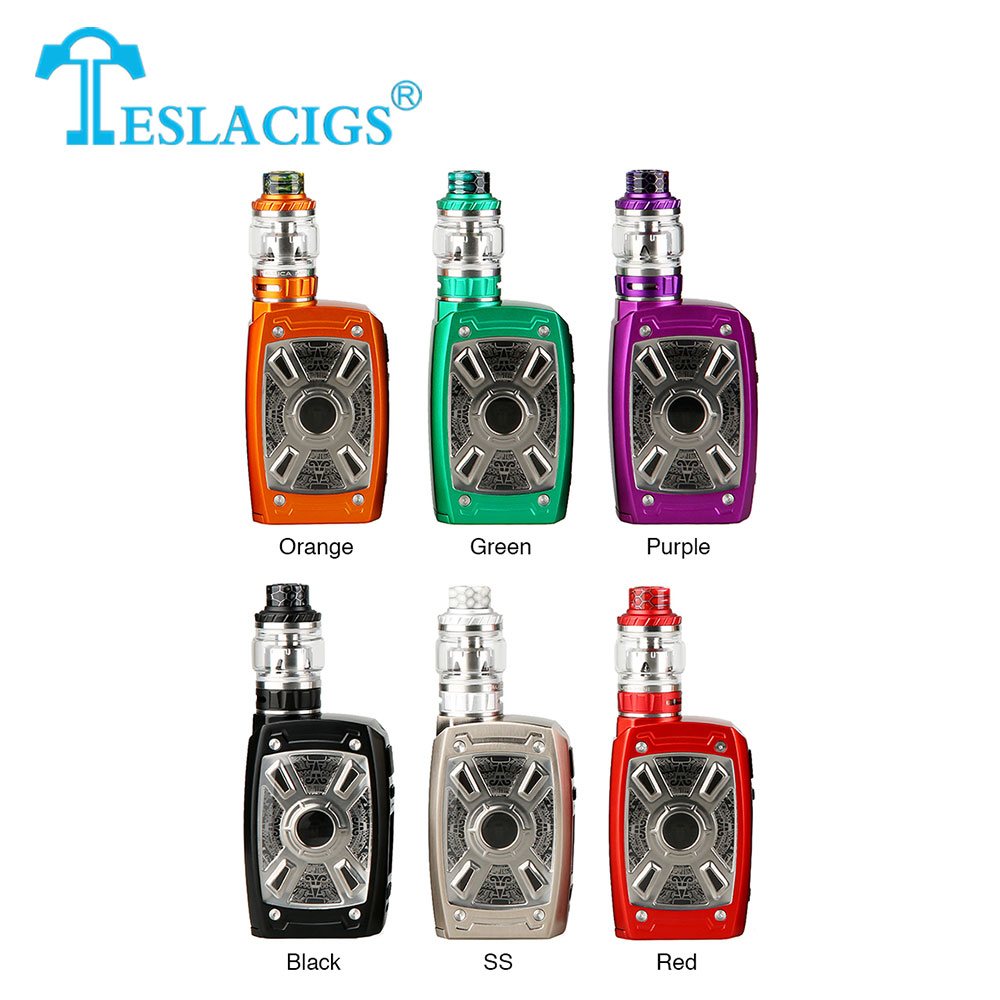 New Original 220W Tesla XT Mini TC Kit with 4ml/6ml Tallica Mini Tank & Plug-n-Pull 0.18ohm Mesh Coil No 18650 Battery Ecig Vape
