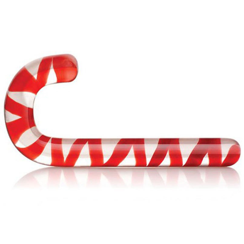 Red Candy Cane Glass Crystal Dildo Pleasure Wand Anal Massager Anal Stimulation Female Masturbation Anal Butt Plug Adult Sex Toy howells aphrodisia anal pleasure butt plug twister фиолетовый анальный вибростимулятор