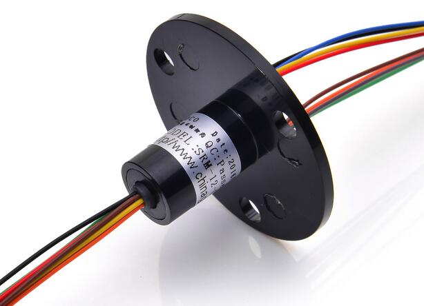 Conductive Brush Slip Ring 8 Channel 1.5A SRM-12-08D Capsule 360 Degree Rotating Electric Connector Mini Slip Rings