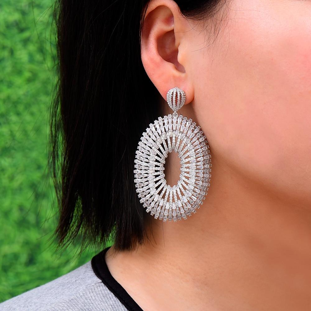 Missvikki charme brillant grand pendentif boucles d'oreilles boucle d'oreille femme 2019 boucles d'oreilles pour femmes mariée mariage bijoux de fiançailles