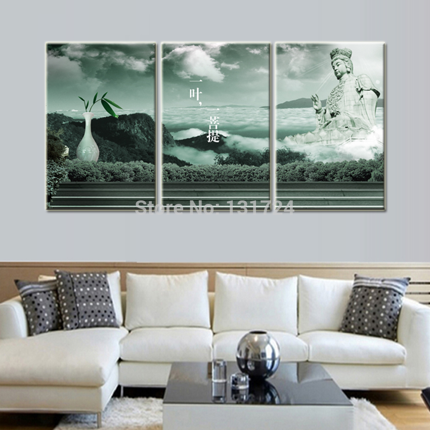 3 Panel Hot Bodhi Leaf Pictures To Canvas Printing Wall Decoration Ideas Modern Art Painting For Living Room No Frame In Calligraphy From