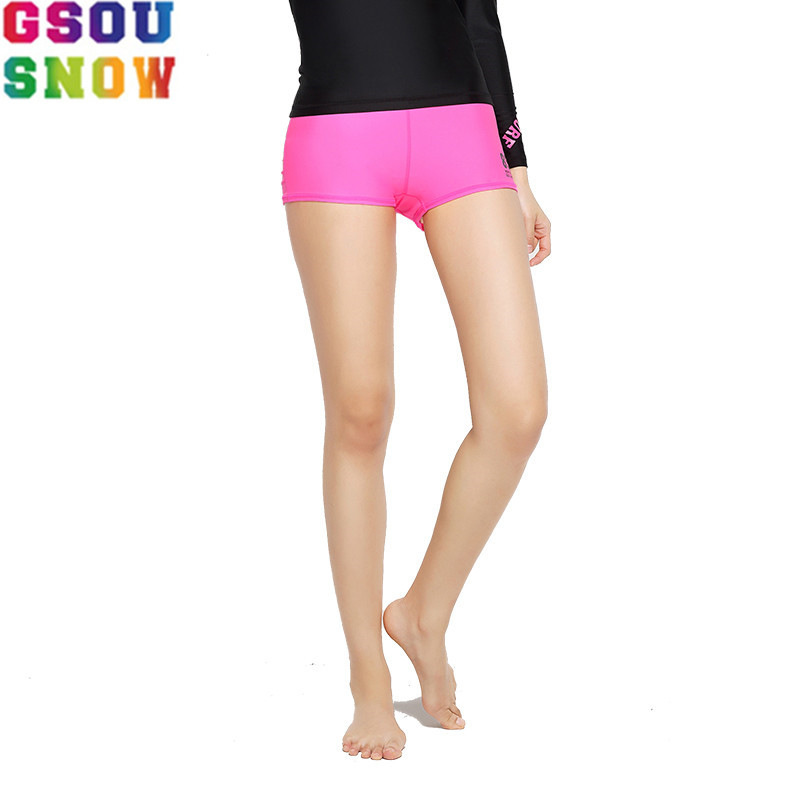 GSOU SNOW Brand Beach   Board     Shorts   Women Bermuda Surf Quick Drying Elastic Summer Swimming Surfing Sports   Shorts   Female Swimwear