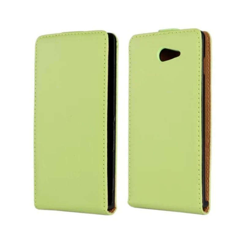 Genuine Leather Flip Cover Case for Sony Xperia V LT25i/M2 S50h/P LT22i/miro St23i/SP M35h/T LT30p with Magnetic Snap ...