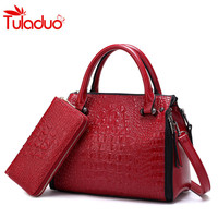 2017 Women Bags Designer Women S Handbags And Purses Crocodile Pattern Crossbody Bag 2 Set Alligator