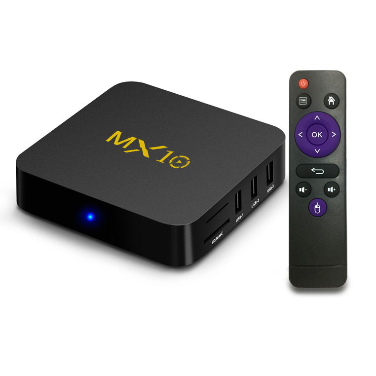 2018 New MX10 Android TV BOX Android 7.1 RK3328 Quad core 4G RAM 32G ROM 4K HDR H265 KODI 18.0 USB 3.0 IPTV Set-top BOX