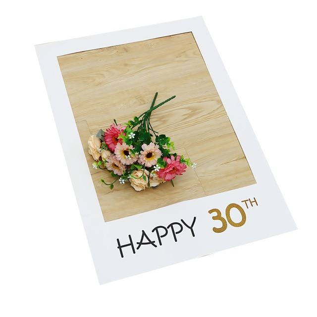 Aliexpress.com : Buy Multicolor Cute Happy Birthday 30th Photo Booth ...