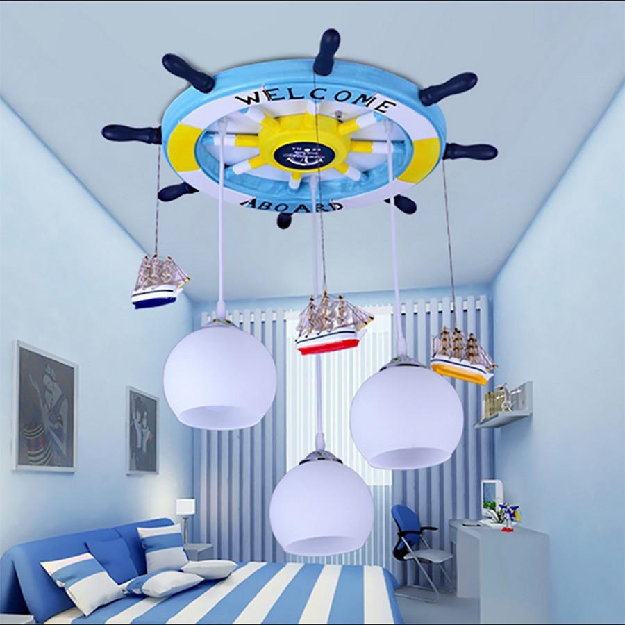 cartoon Mediterranean Led modern lighting chandeliers baby room Led chandelier ceiling kids 110V 220V Led chandelier все цены