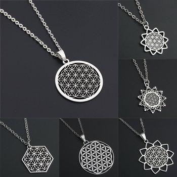 1pc Dropshipping nasion wisiorek drzewo życia kwiat życia naszyjnik biżuteria świętej geometrii kobiet akcesoria urodziny prezent