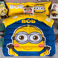 Cotton cartoon bedding double four-piece 1.5-foot cotton students children's bed single quilt three four sets