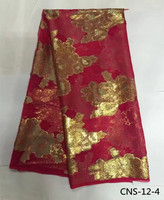 100 Real Silk Fabric 5 Yards Lot High Quality African Popular Style Hot Selling Nigerian Silk