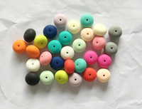 DIY elastic silicone beads green beads of Europe's most popular silicone beads Wholesales New Food Grade beads