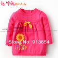 new 2014 spring autumn children sweater baby clothing kids Knitwear baby pullover sweater girls flowers princess Knitting Shirt
