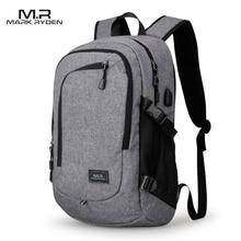 MR Computer Laptop Rucksack für 15-16 zoll USB Lade männer Mit Großer Kapazität Reisetasche für Jugendliche Wasserdicht rucksack