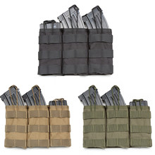 Taktis Single/Double/Triple Molle Majalah Kantong Tentara Militer Rompi Aksesoris Tas Open Top Cartridge Valve(China)