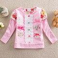 Muchacha de los niños camiseta NEAT marca de ropa de bebé muchachas del algodón camisetas embroma la ropa del bordado bebé de la camiseta polka niña camiseta