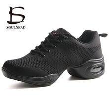 Обувь для танцев для женское для современных танцев обувь дыхание Спортивный Бюстгалтер с сеткой вентиляции практические занятия танцами кроссовки леди Джаз Танцы обувь Zapatos