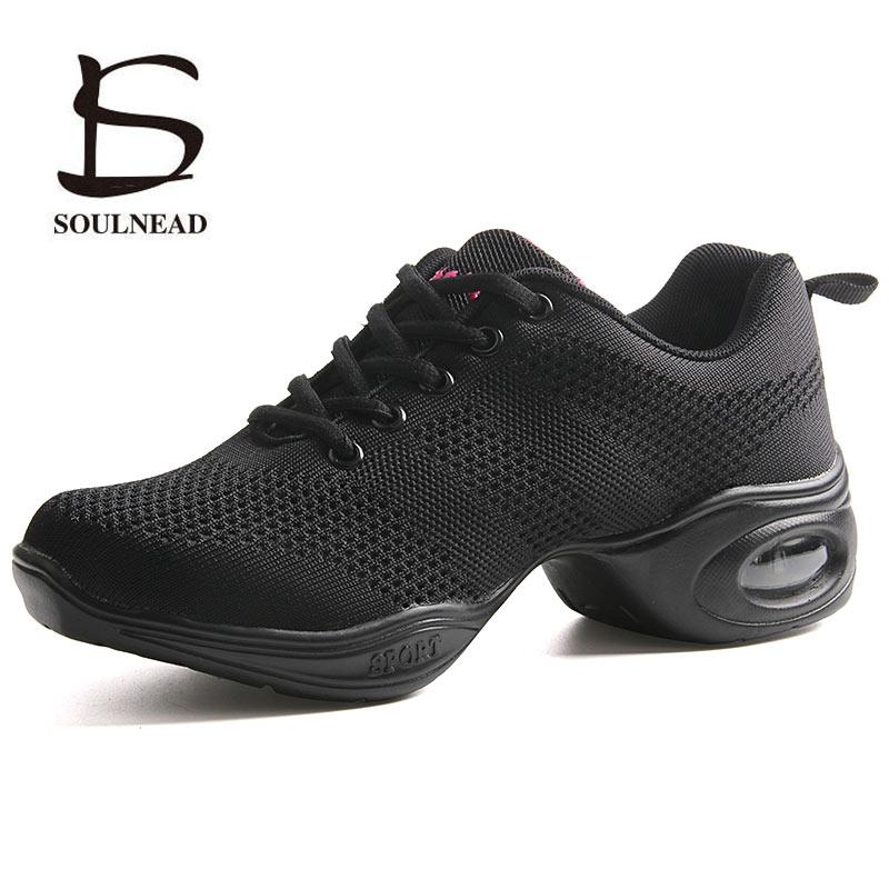 Dance Sneakers For Woman Jazz Dance Shoes Mesh Ventilation Practice Dance Sneaker Lady Modern Dancing Shoe Women's Sports Shoes