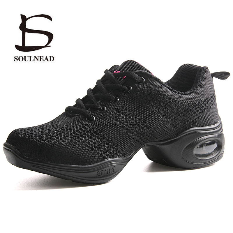 Women's Dance Sneakers Woman Jazz Dance Shoes Mesh Ventilation Practice Dance Sneaker Lady Modern Dancing Shoe Sports Shoes