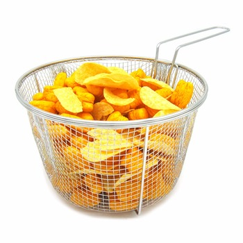New Deep Fryer Basket Hot Cooking Tools Easy Frying French Potato Chips Snack Serving Food Presentation Fry Baskets With Handle Appliances Electronics Fryer Small Kitchen Appliances