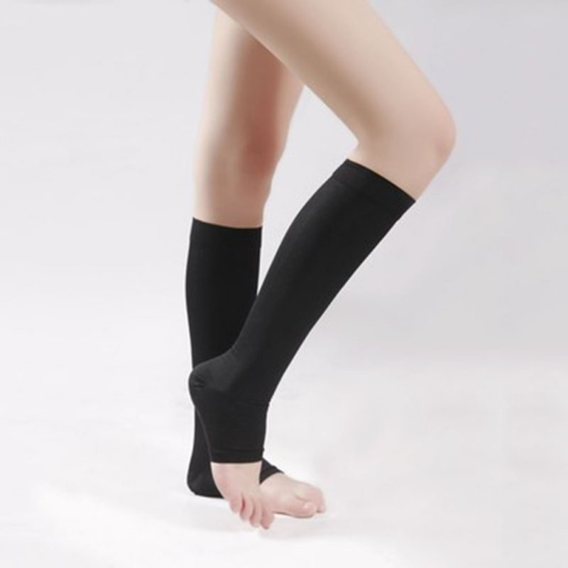 18-21mmHg KNEE HIGH COMPRESSION Men Women Dress Support Stockings Open Toe
