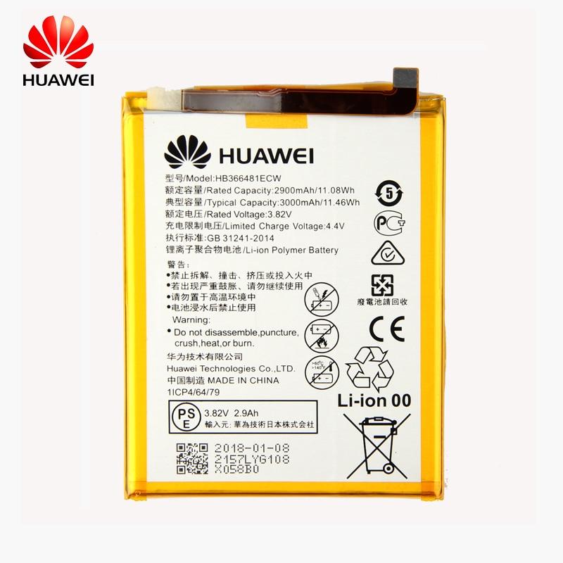 Original Huawei HB366481ECW batería del teléfono para Huawei P9 Ascend P9 Lite G9 honor 8 honor 5C G9 EVA-L09 honor 8 lite 2900 mah