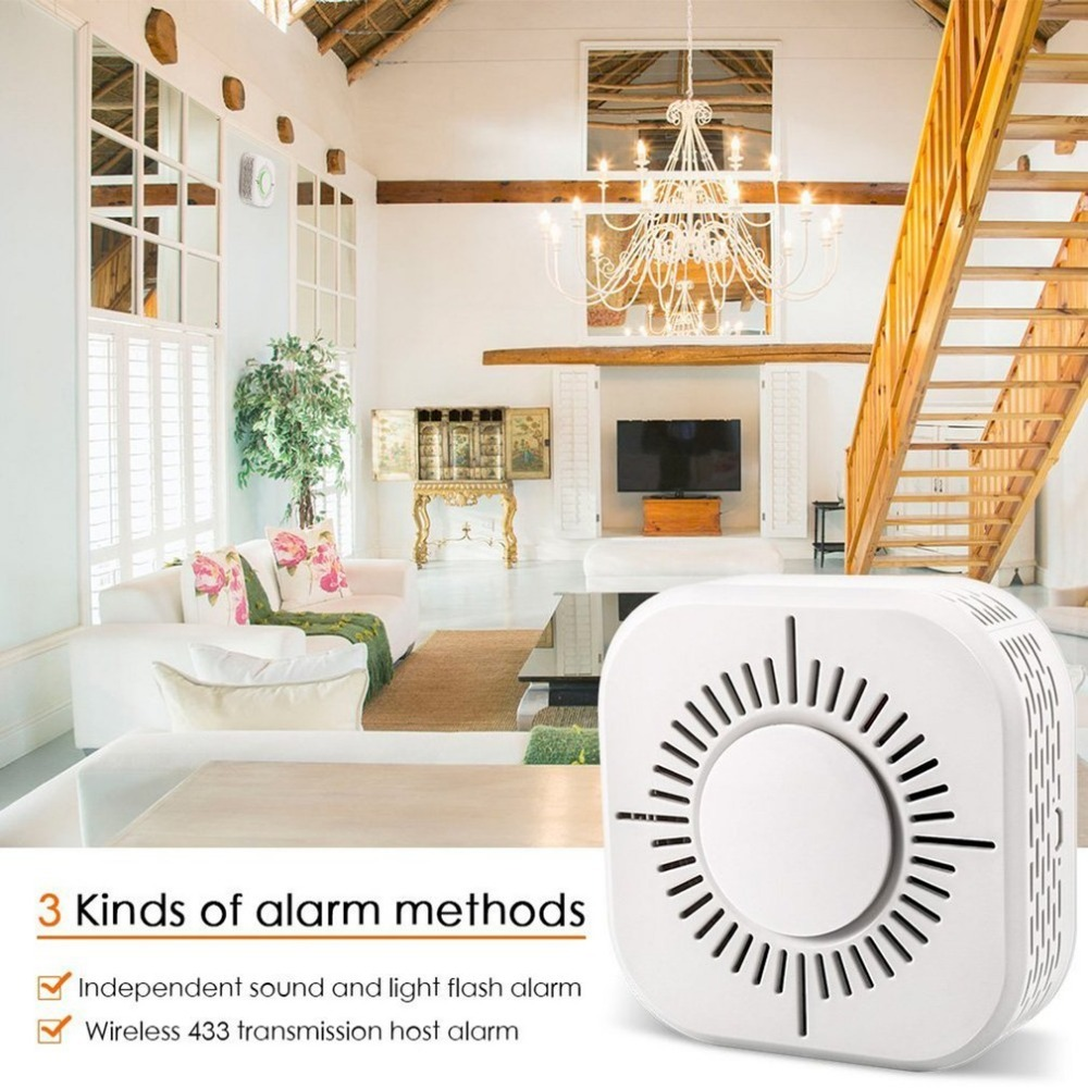 C50d Independent Smoke Detector No Wireless Smoke Detector 433 Fire Alarm