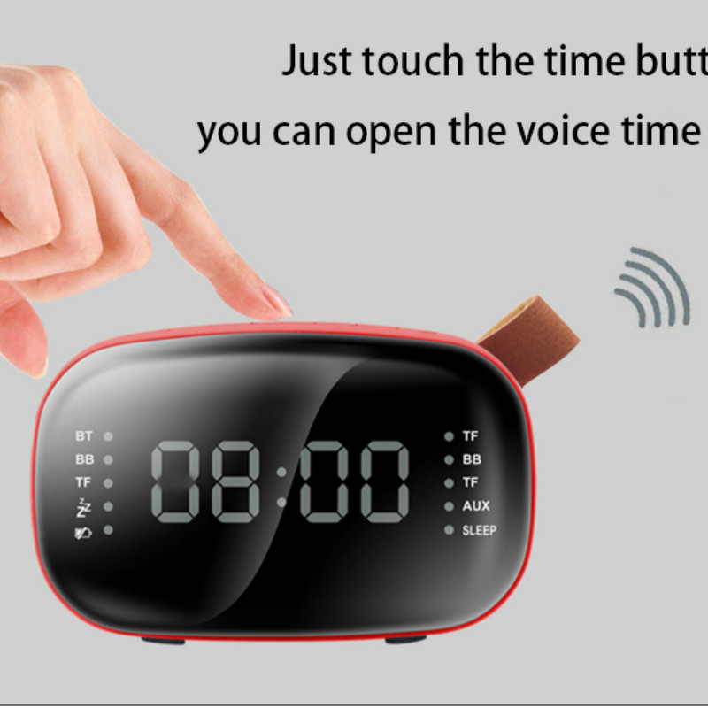 LED Fm Radio Digital Alarm Clock with sleep timer snooze fuction Compact Digital Modern Design Reloj Digital Pared Table Clock