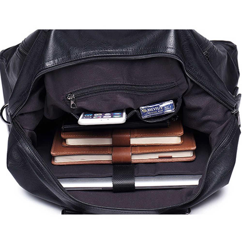 Модные мужские дорожные сумки бренд багаж непромокаемый Чемодан вещевой мешок большой вместительные сумки Повседневная Высокая емкость кожаная сумка