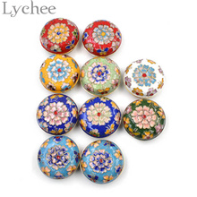 Винтажный китайский стиль цветочный узор Эмаль перегородчатая коробка ювелирных изделий маленькое кольцо коробка для хранения сережек чехол в случайном цвете