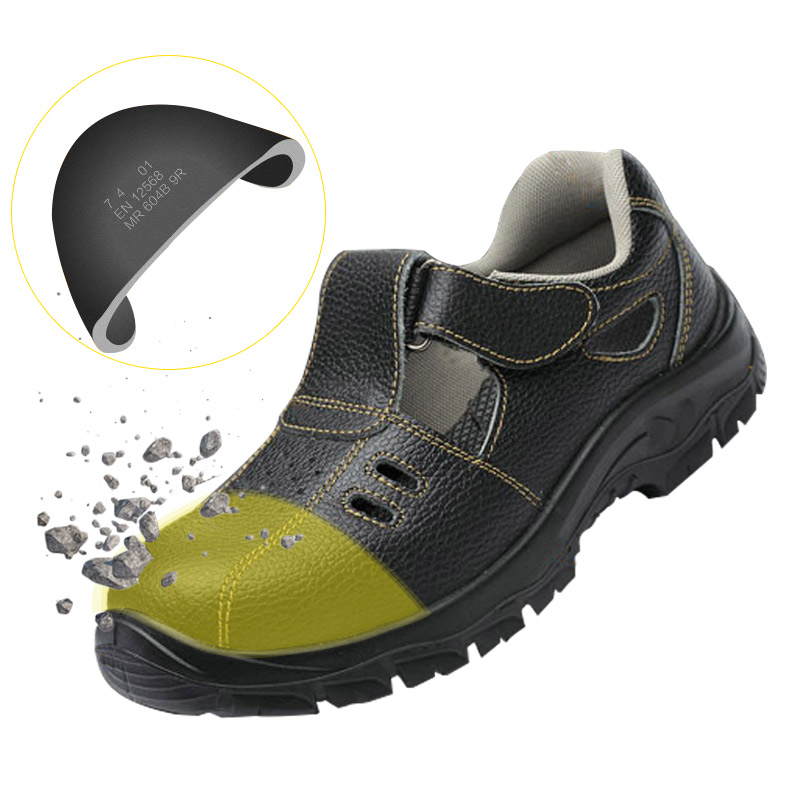 Cow Leather Safety Shoes Men Summer Breather Lightweight Anti-smashing Steel Toe Cap Shoes Deodorant Outdoor Work ShoesCow Leather Safety Shoes Men Summer Breather Lightweight Anti-smashing Steel Toe Cap Shoes Deodorant Outdoor Work Shoes