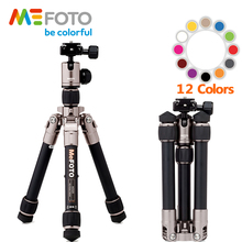 MeFOTO A0320Q00 Aluminum Colorful Portable Super Light Mini Tripod For Camera Holder Monopod Tripode Maximum Load 4KG