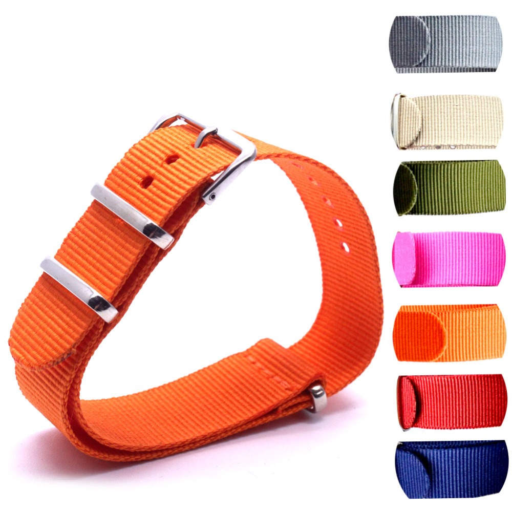 Wholesale 10PCS/lot Heavy duty nylon straps  24mm Nylon Watch band NATO strap zulu watch ring buckle