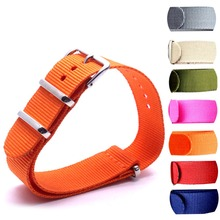 Wholesale 10PCS/lot Heavy duty nylon straps  24mm  Nylon Watch band NATO strap zulu strap watch strap ring buckle стоимость