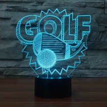 Popular golf desk lamp buy cheap golf desk lamp lots from china golf 3d golf modelling led nightlight 7 colors desk table lamp lampara light fixture golf enthusiast gifts baby sleep lighting decor aloadofball Choice Image