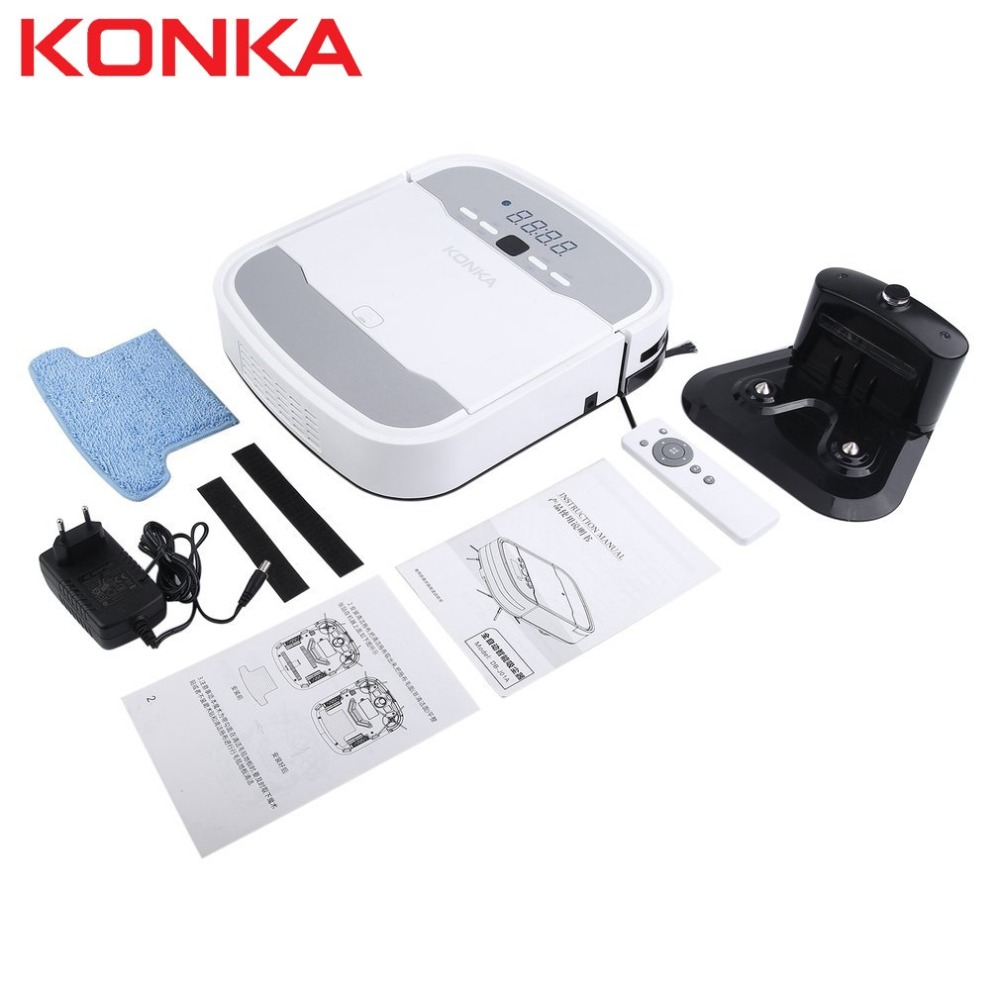 KONKA Sweeper Robot Ultra-thin Automatic Back Charging Household Intelligent Sweeping Robot With Remote Controller Gifts цена